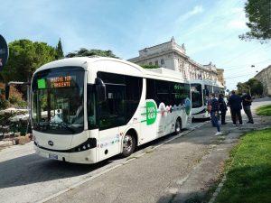 Ônibus BYD entregues à Conerobus e ao Município de Ancona