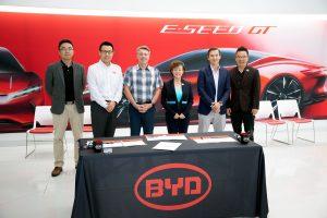 BYD e Levo anunciam parceria para implantar até 5 mil veículos elétricos BYD na eletrificação de frotas dos EUA durante os próximos cinco anos.
