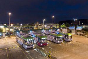 Primeiros ônibus elétricos BYD ADL Enviro200EV, em Glasgow